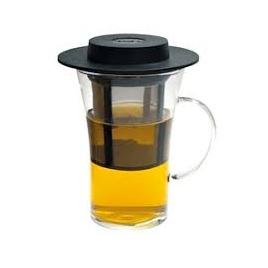Set verre 28 cl avec anse + filtre à thé amovible - FINUM